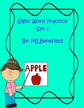 Sight Word Practice Set 1
