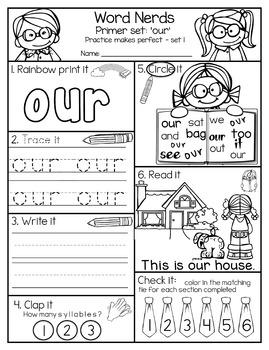 Sight Word Practice - Primer