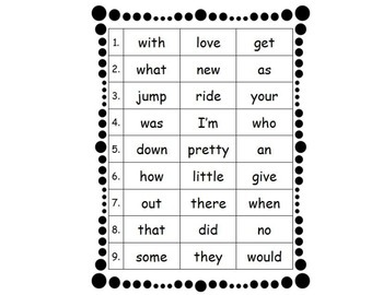 Sight Word Practice Set 3
