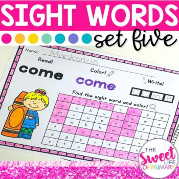 Sight Word Practice Part 5