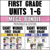 Sight Word Practice Sheets & Activities Bundle (Journeys First Grade Supplement)