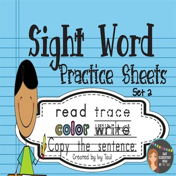 Sight Word Practice Sheets {Read, Trace, Color, Copy, & Write} - Fry Set 2