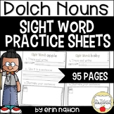 Sight Word Practice Sheets {for 95 Dolch nouns}