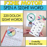 Sight Word Practice - Spin a Sight Word Activities