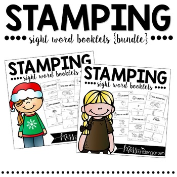 Sight Word Practice Stamping Booklets {bundle}