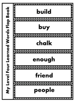 Orton-Gillingham Multisensory Sight Words, Red Words, Learned Words