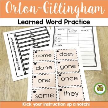 Orton-Gillingham Sight Word Practice
