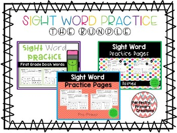 Sight Word Practice- THE BUNDLE