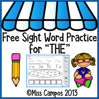 Free Sight Word THE