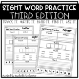 Sight Word Practice THIRD (Trace it. Write it. Build it. Find it. Use it.)