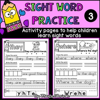 Sight Word Practice - Vol. 3