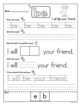 Sight Word Practice - Vol. 3