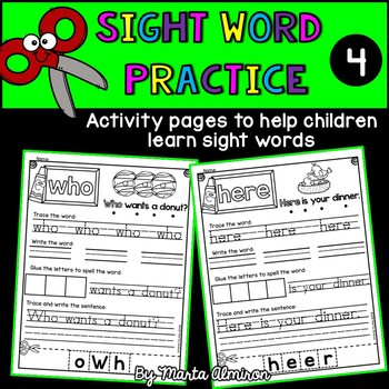 Sight Word Practice  {Volume 4}