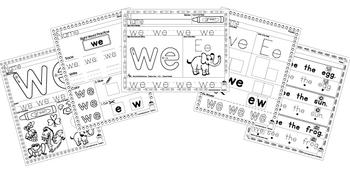 Sight Word Practice - We