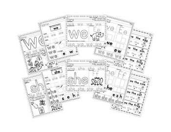 Sight Word Practice - We, She, He, And