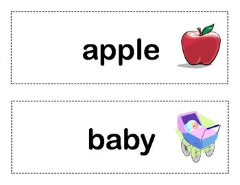 Sight Word Practice With Picture Clues-A Word Wall and Write the Room Activity