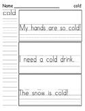 Sight Word Practice - Wonders First Grade Unit 2