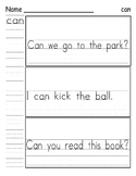 Sight Word Practice - Wonders Smart Start First Grade