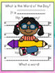 Sight Words Practice:  mini poster; book, or word work for the Word of the Day