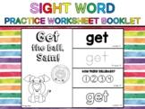 Sight Word Practice Worksheet Booklet (Dolch Primer) - GET