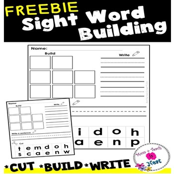 Sight Word Practice Worksheets- Cut it, Build it, Write it