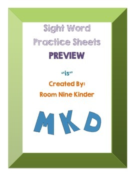 Sight Word Practice Worksheets 'is' Free Preview!
