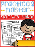 Sight Word Practice and Master