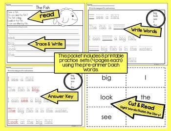 Sight Word Activities  Pack #1