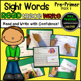 Sight Word Activities  Pack #1 (Pre-Primer)