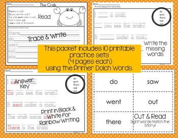 Sight Word Activities Pack #2 {Primer Words}