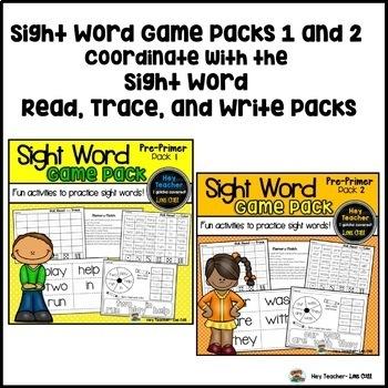 Sight Word Activities #3 (The Bundle)