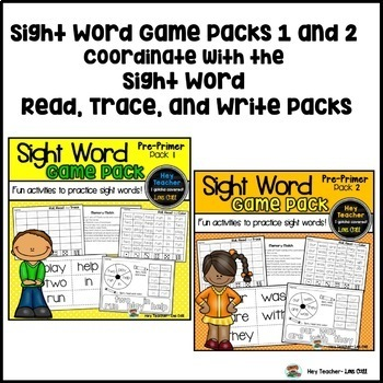 Sight Word Activities #3 (The Bundle)