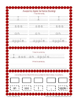 Sight Word Practice and Sentence Building Bundle!!