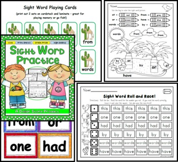 Sight Word Practice 3: at, be, this, have, from, or, one, had, by, words