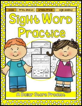 Sight Word Practice 4: but, not, what, all, were, we, when