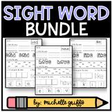 Sight Word Practice for Kindergarten Bundle Packs 1-3 (EDITABLE)