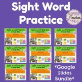 Sight Word Practice in Google Slides - Aligns with Jan Ric