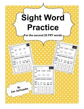 Sight Word Practice set 2