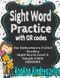 Sight Word Practice w/QR codes--Jan Richardson's Guided Reading Words Level A