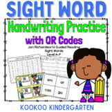 Sight Word Practice w/QR codes--Jan Richardson's Guided Reading Words Levels A-F