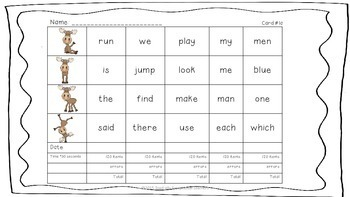 Sight Word Practice with Data Collection