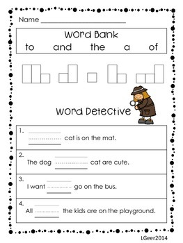 Sight Word Practice with First 100 Fry
