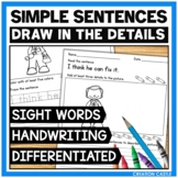 Sight Word Practice with Simple Sentences Bundle