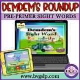 BOOM CARDS Sight Words Pre-Primer Demdem  - Teletherapy