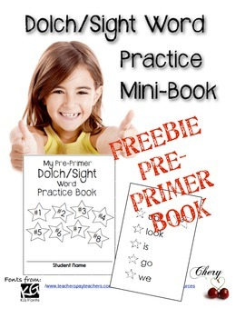 Sight Word Pre-Primer Practice Sticker Book