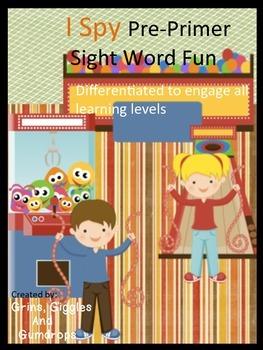 Sight Word Pre-Primer Word I Spy