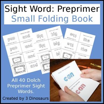 Sight Word: Preprimer Small Folding Book