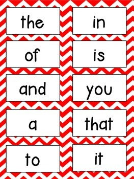 Sight Word Preview Packet FREEBIE