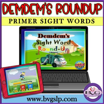 Sight Word Primer Demdem BOOM CARD Edition - Teletherapy