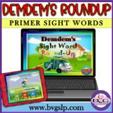 BOOM CARDS Sight Word Primer Demdem - Teletherapy